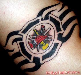 firefighter armband tattoo. Black Bedroom Furniture Sets. Home Design Ideas