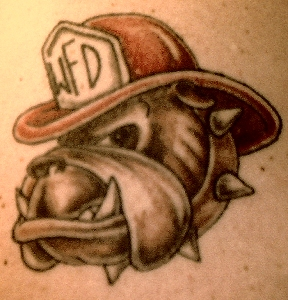 Bulldog Firefighter Tattoos