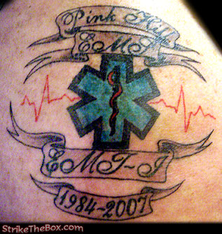 Ems tattoo for Star of life tattoo