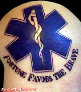 Tatto on Rank  Firefighter  Private