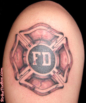 Strike The Box  Firefighter Tattoo