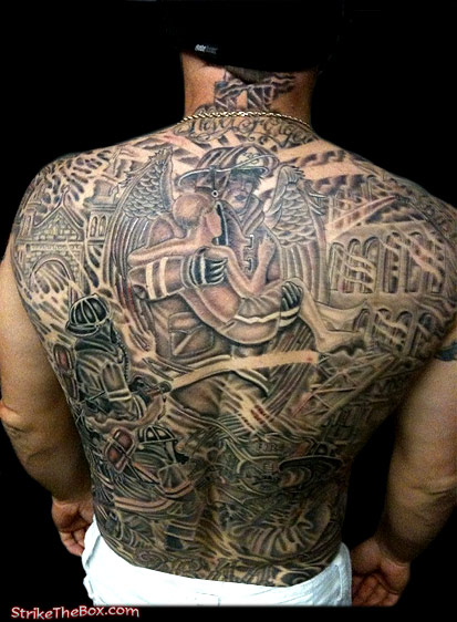 Ronny Fikes Firefighter Tattoo Of The Week On Strikethebox Com