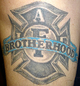 Strike the box fire fighter tattoos more for Tattoo shops canton ohio