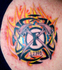 Strike the box fire fighter tattoos more for Sacred addition tattoo east bridgewater ma