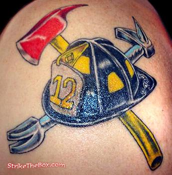 leather helmet firefighter tattoo. Black Bedroom Furniture Sets. Home Design Ideas