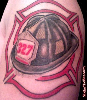firefighter tattoo. Black Bedroom Furniture Sets. Home Design Ideas