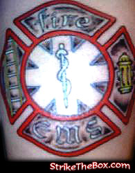 maltese firefighter tattoo