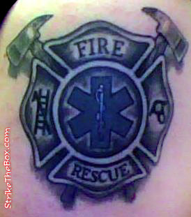 de9a905ee10c5 maltese cross with ems star of life tattoo