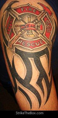 firefighter maltese cross tattoo. Black Bedroom Furniture Sets. Home Design Ideas