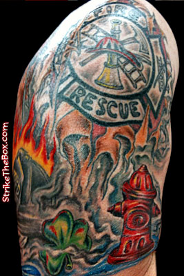 Firefighter tattoo for Firefighter sleeve tattoo
