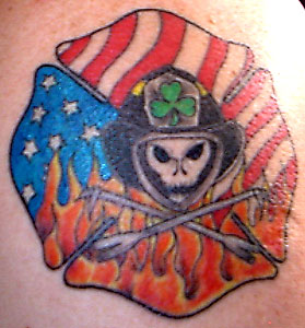 Strike the box fire fighter tattoos more for Dekalb tattoo company