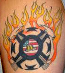 Strike the box fire fighter tattoos more for Tattoo shops junction city ks