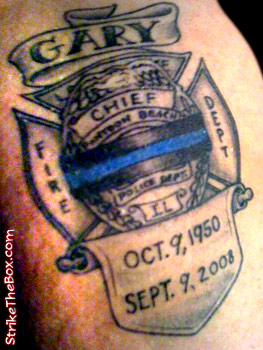 Firefighter tattoo for Law enforcement memorial tattoo