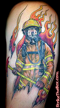 Firefighter tattoos for Smilin buddha tattoo calgary ab