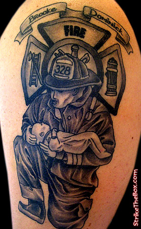 Firefighting Tattoos on Firefighter Tattoos