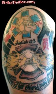 Fire fighter tattoo for Combat medic tattoo