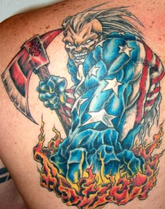 Strike the box fire fighter tattoos more for Coral springs tattoo