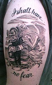 Upper Arm Tattoo Words