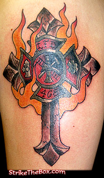 Firefighter tattoo for Firefighter tattoos and meanings