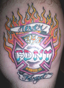 My Cake Art Elizabethton Tn : fire fighter tattoo